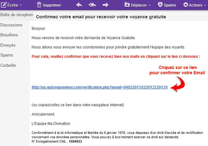 aperçu email